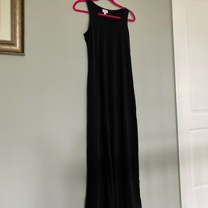 Lularoe Solid Black Dani Tank Dress NWT